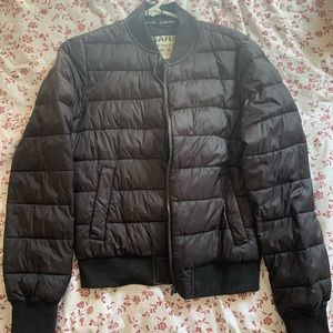 Garage Black Packable Light Puffer Jacket